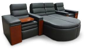 home theater sectional sofa set luxurious theater seating couch at fortress writers bloc theater