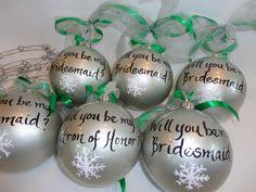 will you be my bridesmaid ornaments painted by samdesigns22