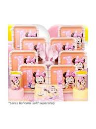 minnie mouse 1st birthday minnie mouse 1st birthday deluxe kit serves 8 guests yelm party