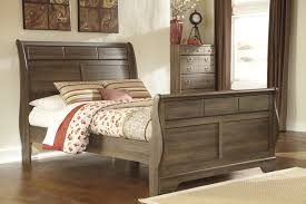 Ashby Bedroom Set Pottery Barn 4 Piece Sleigh Bedroom Set In Dark Redbrown Ashley Bed Sleigh Bed