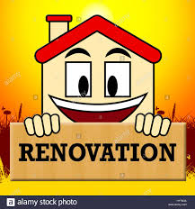 house renovation meaning make over home 3d illustration stock