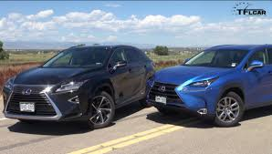 lexus hybrid 2016 2016 lexus rx 450h vs lexus nx 300h 0 60 mph mashup review video