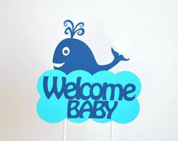 whale baby shower party centerpiece welcome baby whale baby shower centerpiece