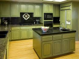 distressed green kitchen cabinets home design ideas