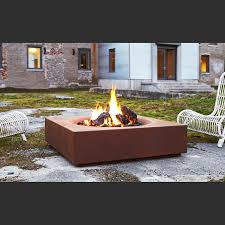 Firepit Wood Modern Outdoor Gas Fireplace Malm Wood Burning Pit