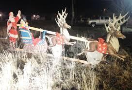 Lighted Santa Sleigh Reindeer Set by Reindeer Pull Santa U0027s Sleigh In Anaconda Local Mtstandard Com