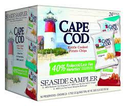 prime members 24 pack cape cod seaside sampler potato chips