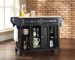 kitchen island storage table zamp kitchen island storage table crosley furniture newport natural wood top black