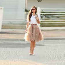 tulle for sale khaki tutu skirt knee length a line tulle skirt hot sale