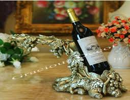 tabletop wine bottle holder grape vine decorative luxury