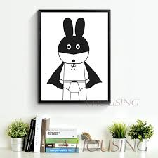 Rabbit Home Decor Cartoon Batman Canvas Art Print Painting Poster Wall Pictures For