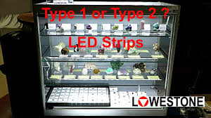 led display cabinet lighting display cabinet led lighting type 1 or 2 youtube