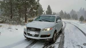 Audi Q7 2010 - q7 with first snow fall in 2010 audi