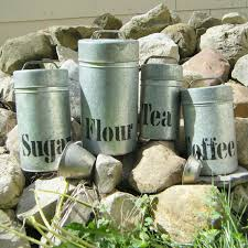 tin kitchen canisters 4 rustic tin kitchen canister set country by slatternhouse5