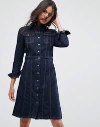 denim dress jean u0026 shirt dresses asos