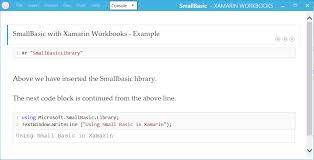 small basic with xamarin workbooks u2013 small basic