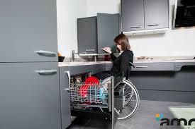 cuisine lave vaisselle en hauteur electroménager adapté aux personnes handicapées pmr et seniors