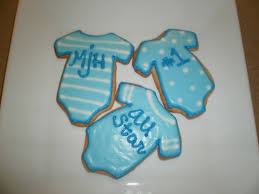photo baby shower cookies chicago image