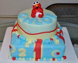 elmo first birthday cake 2 tiers jpg