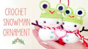 crochet snowman kawaii amigurumi tutorial