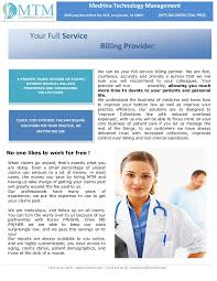 business proposal for medical billing services