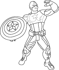 coloring pages avengers captain america coloring pages best coloring page
