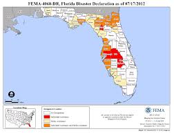 Map State Of Florida by Florida Tropical Storm Debby Dr 4068 Fema Gov