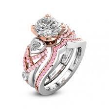 pink wedding rings pink wedding ring sets bridal setsbridal ring setswedding ring