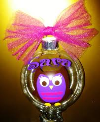personalized owl ornaments any name initial phrase you
