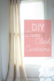 How To Sew Curtains With Grommets Diy Drop Cloth Curtains No Sew Curtains Megan Brooke Handmade