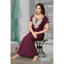 womens nightwear gown wine 186a bedroom maxi daily night dress