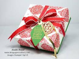 large gift box using embellished ornaments stin up