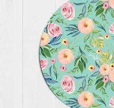 Floral Desk Accessories Mint Mouse Pad School Supplies Gift Decor Floral Office