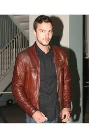 mens motorcycle leathers nicholas hoult motorcycle jacket mens brown leather biker jacket