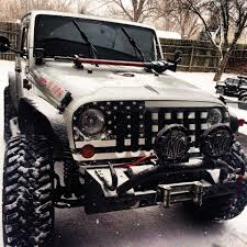 jeep american flag test tube graphics grill wraps