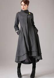 Womens Winter Coats Plus Size Swing Coat Womens Coats Gray Coat Wool Coat Plus Size