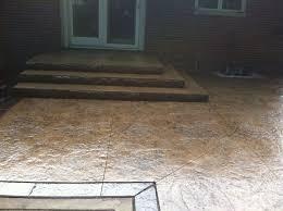 Textured Concrete Patio by G U0026m Concrete Staining U0026 Antiquing