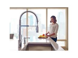 moen 5923srs spot resist stainless align pre rinse high arc moen 5923srs spot resist stainless align pre rinse high arc kitchen faucet with powerclean and duralock technologies faucetdirect com