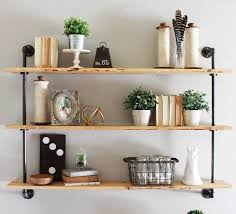 pipe wall shelves design ideas impression industrial style
