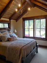 rustic ceiling design in contemporary loft bedroom design idea