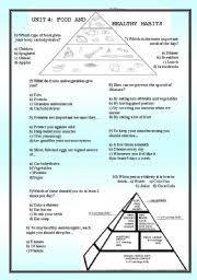 english teaching worksheets nutrition