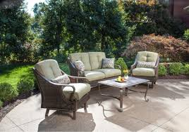 Wicker Patio Conversation Sets Ventura 4 Piece Wicker Outdoor Conversation Set