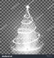 illumination lights shiny tree isolated stock vector