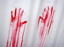 Crime Scene Bathroom Decor Blood Bath Shower Curtain And Bath Mat The Green Head