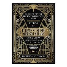 Art Deco Wedding Vintage Black U0026 Gold Art Deco Wedding Invitations Zazzle Com
