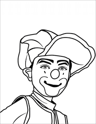 clown portrait coloring page free printable coloring pages