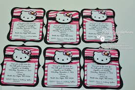 Hello Kitty Invitation Card Maker Free Hello Kitty Black And Pink Zebra Birthday Invitations And Name