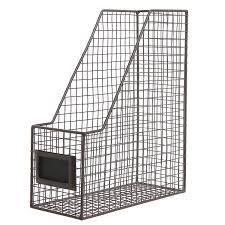 amazon com brown mesh wire metal magazine rack mail holder