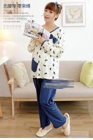 Trendy Plus Size Maternity Clothes Plus Size Xxxl Pregnant Women Sleep Lounge Clothes For Nursing