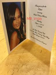 Funeral Pamphlet Ideas Bobbi Kristina Brown U0027s Funeral U201cwas Beautiful Service For Someone